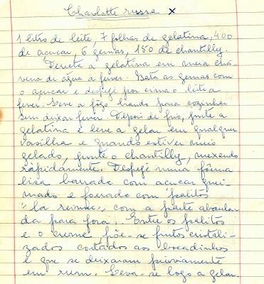 As Receitas da Avó Helena e da Avó Eduarda - Charlotte Russa