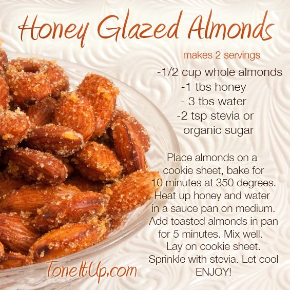 Honey Glazed Almonds *ToneItUp.com