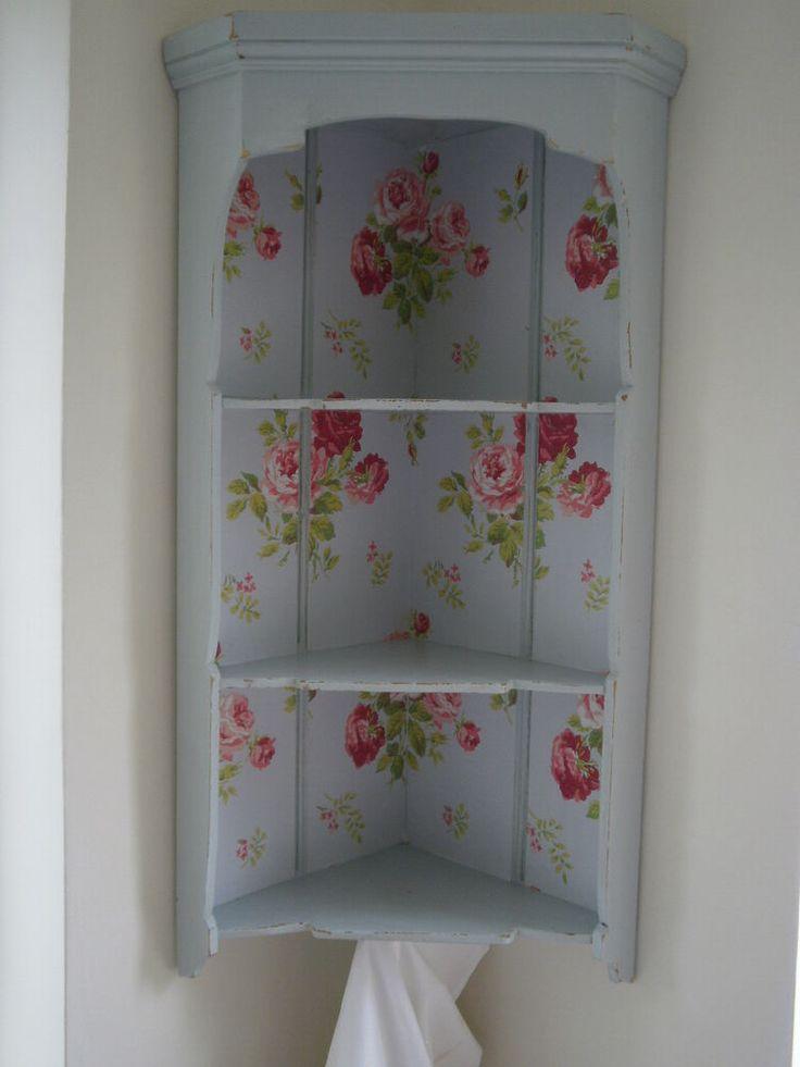 Vintage Corner Shelf Display Unit