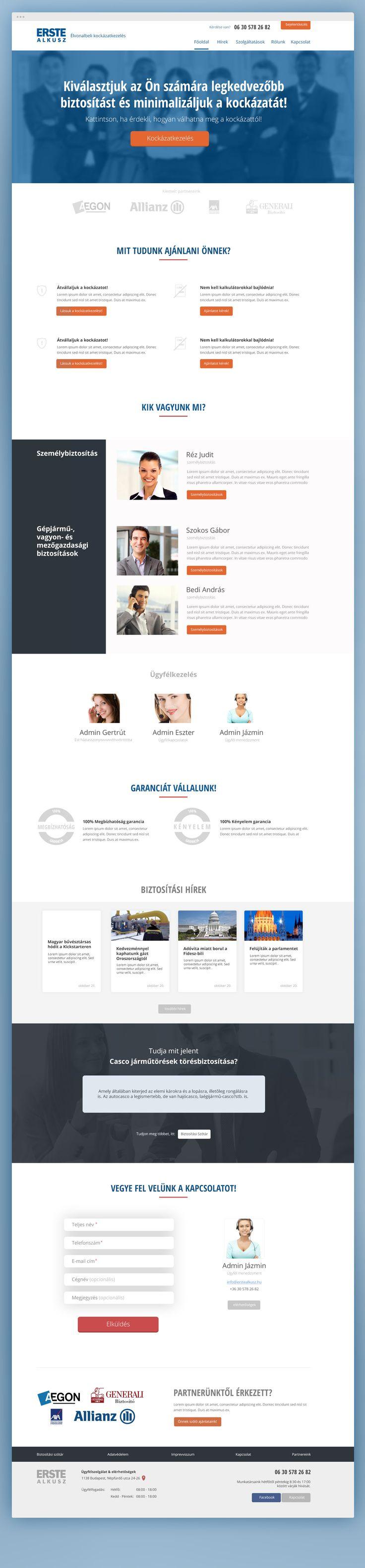 Erste Alkusz homepage design