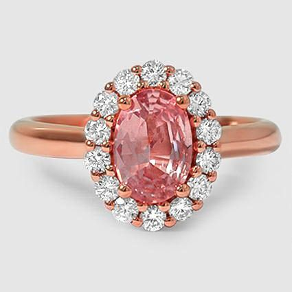 Our rose gold Lotus Flower Diamond Ring set with a pink sapphire. #BrilliantEarth