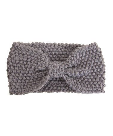 Take a look at this Gray Bow Knit Headband by Dynamic Asia on #zulily today!