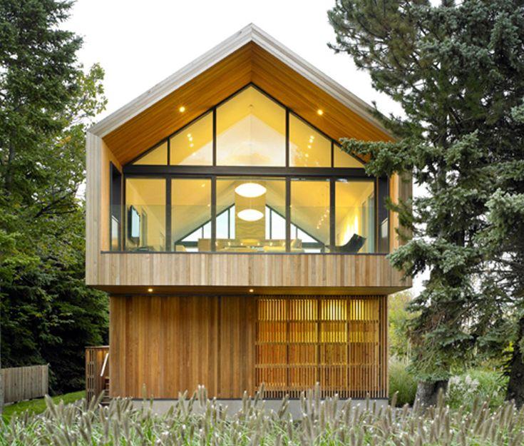 Moderne fassaden einfamilienhäuser satteldach  modernes einfamilienhaus holz satteldach - Google-søk | Fassade ...