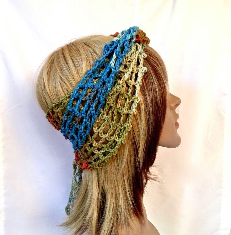 AROUND the BEACH Head Wrap - Head Wrap for Summer - Designer Grade Cotton - TyDy Coloration - Headband, Scarf, Turban, Bandana by Threadmill on Etsy