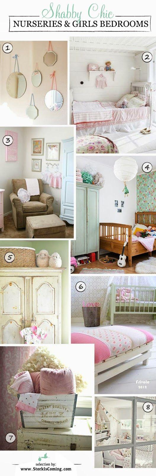 best shabby chic bedrooms for little girls http://www.storkiscoming.com