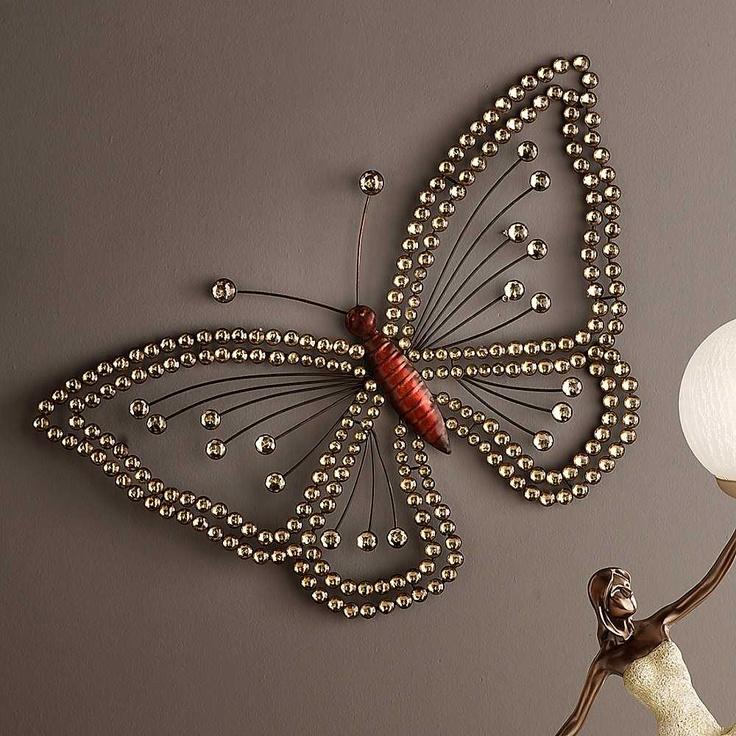 Jewelled Wall Decoration : Best ideas about butterfly wall on d