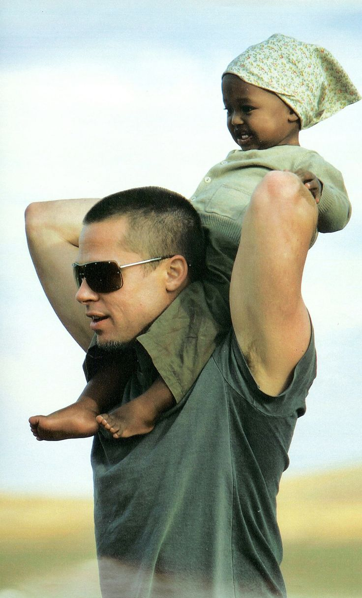 Brad Pitt and daughter Zahara.
