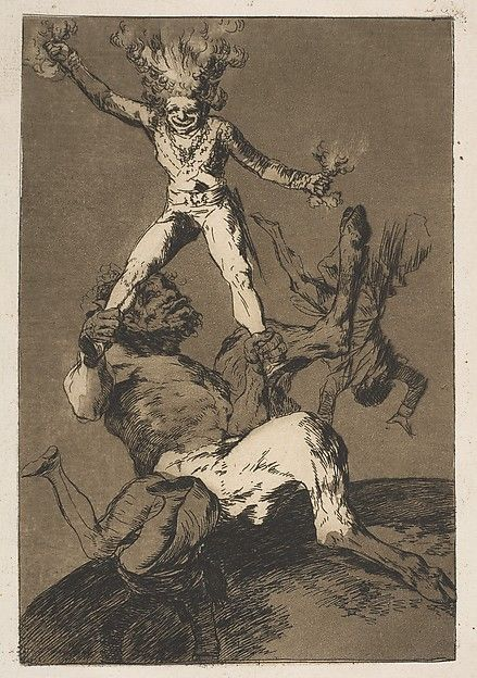 Goya (Francisco de Goya y Lucientes) | Plate 56 from 'Los Caprichos':To rise and to fall (Subir y bajar.) | The Met