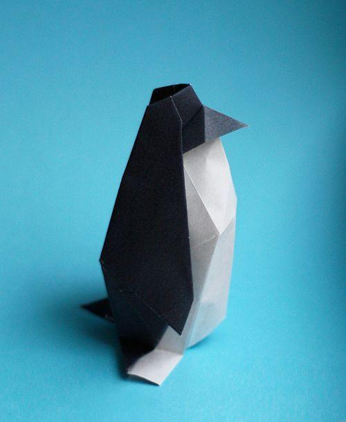 origami pingouin deco de noel