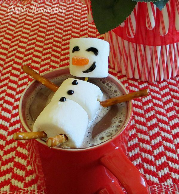 Hot Chocolate Marshmallow Snowman Topper