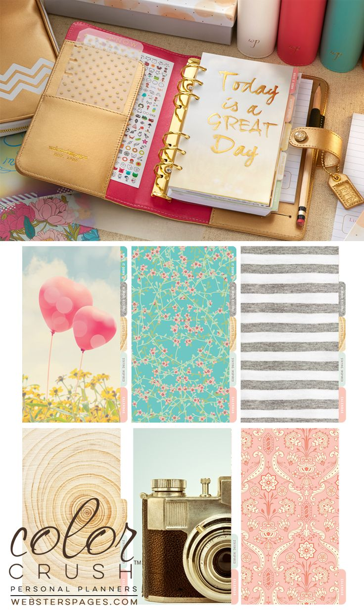 Websters Pages - Color Crush Collection - Personal Planner Kit - Gold at Scrapbook.com