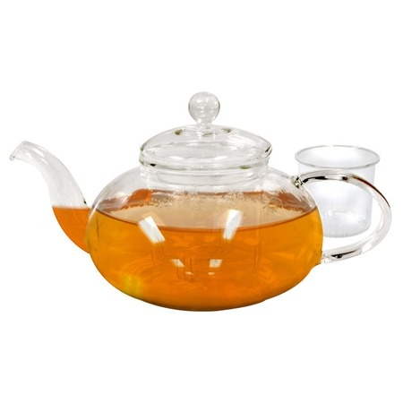 lovely teapot with glass infuser....  I got one of those on our wedding registry :)