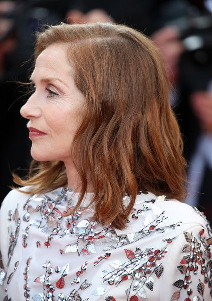Isabelle Huppert Medium Wavy Cut - Isabelle Huppert attended the Cannes Film Festival 70th anniversary event wearing her hair in a side-parted wavy style.