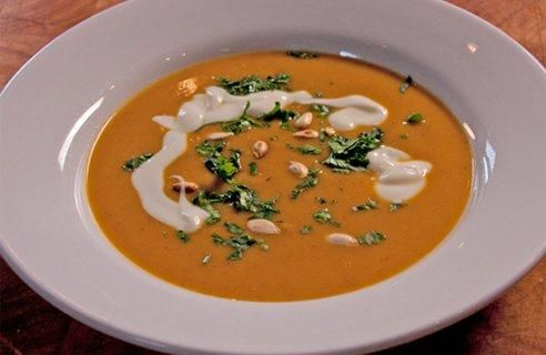Butternut & Nut Butter Soup: this might sound like too clever a joke by half, but it's a really good soup. Peanut (or other nut) butter is a very handy way to add richness and nuttiness to a soup. You can use smooth or crunchy peanut butter, depending on whether you want a silky soup or one with a slightly chunkier texture.