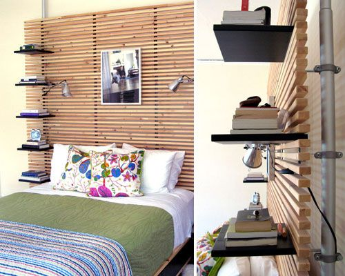 10 great ikea hacks! The headboard is awesome, great idea for apartments or college students