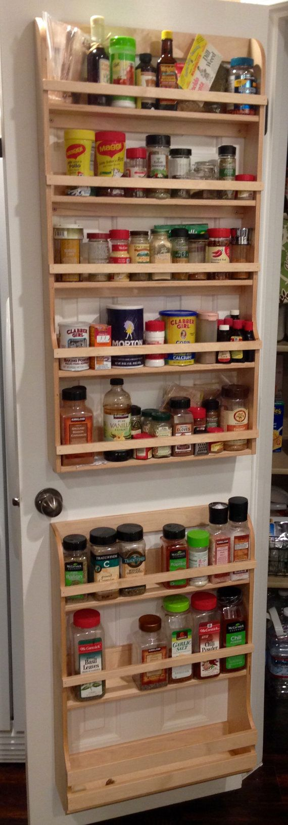 Pantry Door Spice Rack With Over The Door Spice Rack