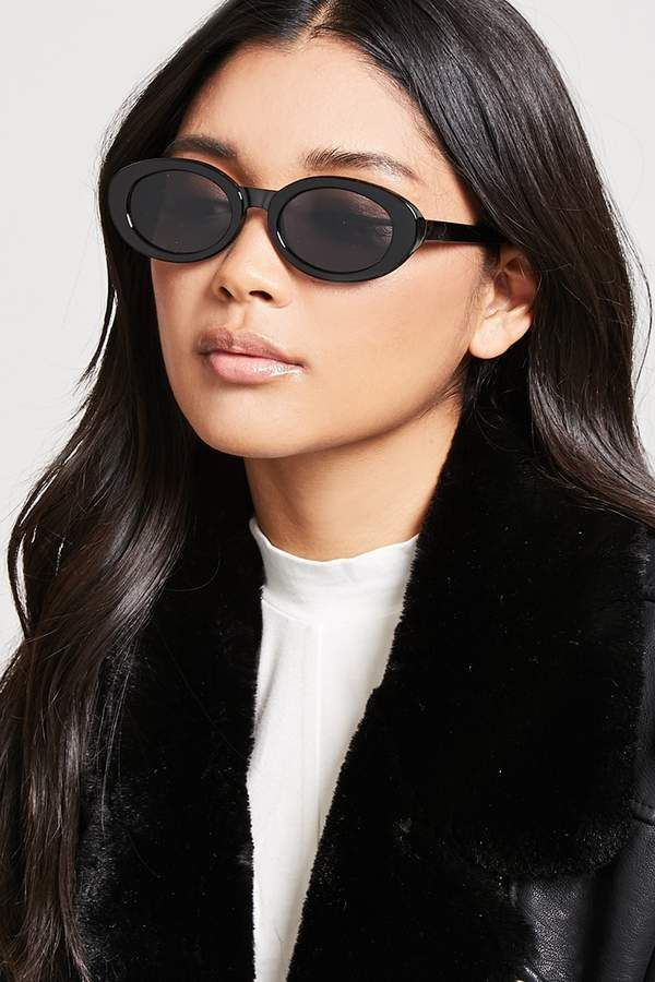 176339c4199 Forever 21 Tinted Oval Sunglasses - saw these at NYFW so so much this past  season. Affiliate link.