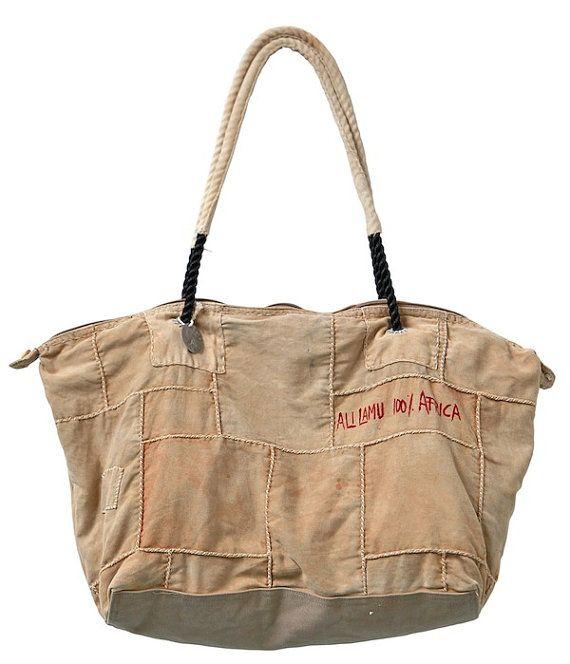 Ali Lamu Vintage Sailcloth Bag PATCH by sophievoskooistra on Etsy, €199,00