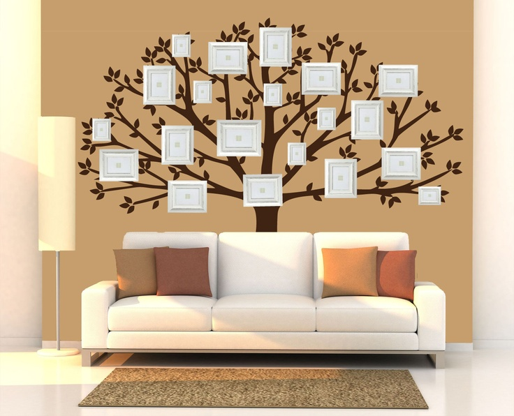 Family Tree Wall Decal, Large Tree Decals, Photo, Memories Tree Stickers  (available