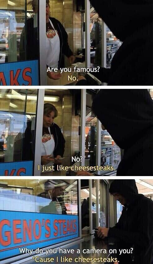 He just likes cheesesteaks this is literally my favorite calum moment