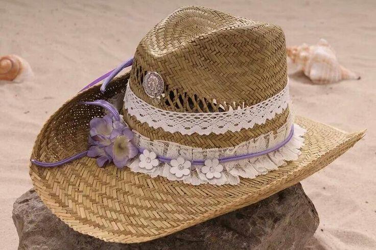 Ibiza style hat purple