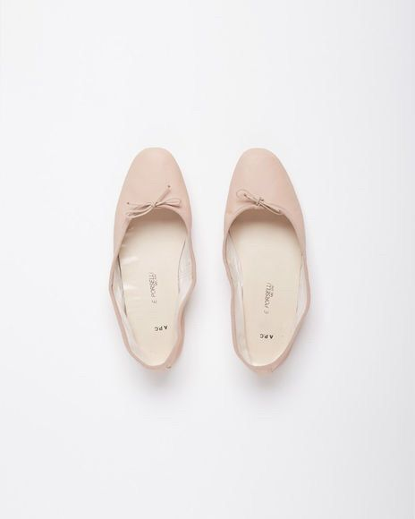 pink ballerinas from iconic Italian brand Porselli for A.P.C.