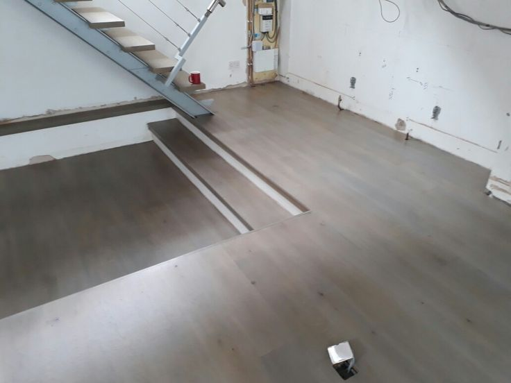 Sanded and sealed - Grey Stained oak floor