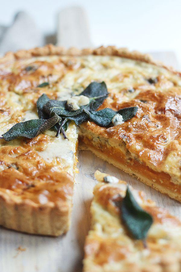 Pumpkin & Gorgonzola Quiche | Fig & Honey
