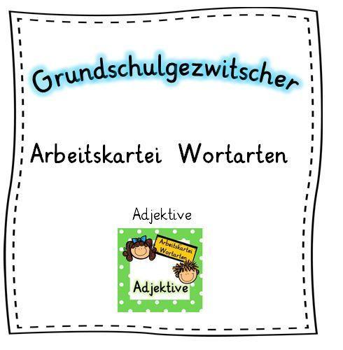 Arbeitskartei Wortarten - Adjektive