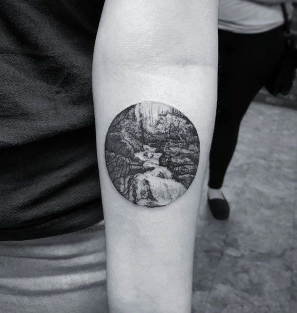 ... scenery tattoo 48 charming unique circular tattoo designs see more