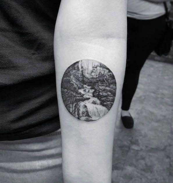 Image result for landscape tattoo