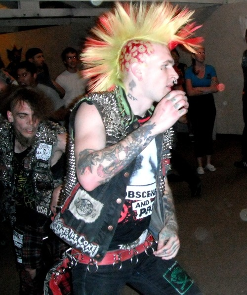 Hubba hubba, sexy male punks at a show