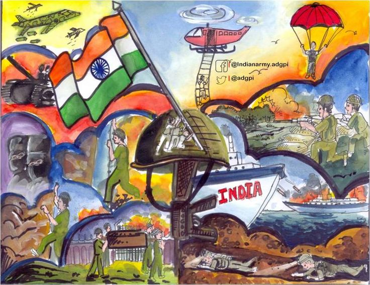 Adg Pi Indian Army On Twitter Art Drawings For Kids Army Drawing Painting Competition
