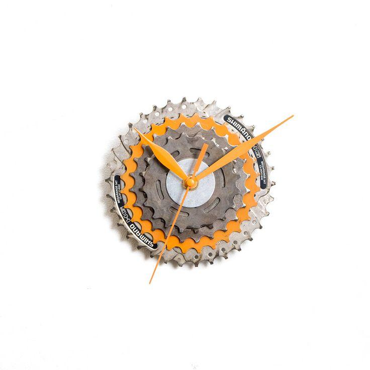 Industrial Clock, Bike Clock, Bicycle Wall Clock, Unique Wall Clock, Unique Clock, Modern Clock, Steampunk Clock, Cyclist Gift Metal Clock by ClockLight on Etsy