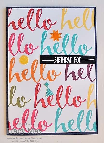 Hello Stampin' Up! Sale-a-bration Free Stamp Set Tracy May