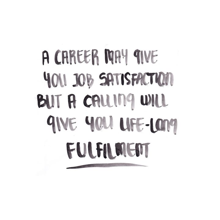 #career #calling #fulfilment
