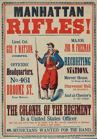 Civil warAmerican Civil Wars, Old Schools, Picture-Black Posters, Recruitment Posters, Graphics Design Posters, Civil Wars Posters, Manhattan Rifles, Wars Recruitment, Advertising Poster