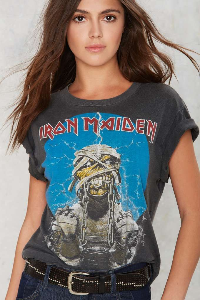Vintage Iron Maiden World Slavery '85-'86 Tour Tee | Shop Product at Nasty Gal!