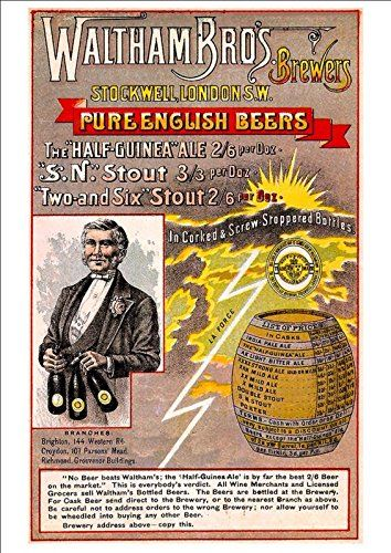 Lovely A4 Glossy Print Advertising The 'Waltham Brothers - Pure English Beers' 1886 - Vintage Product Ad by Unknown http://www.amazon.co.uk/dp/B009S2IM6A/ref=cm_sw_r_pi_dp_4bcsvb13A32WM
