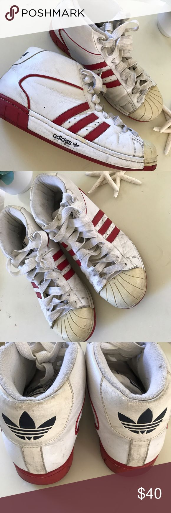 Men's Adidas high top basketball shoes 11 Shows some wear but still a lot of life left in them adidas Shoes Athletic Shoes