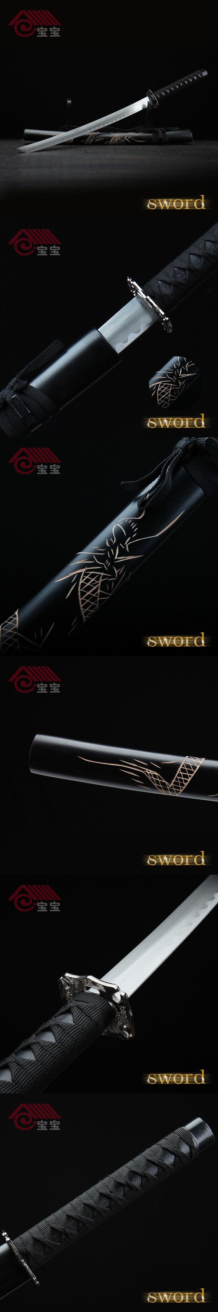 LQS15hj100011 vintage home decor Japanese katana dragon pattern sword $117