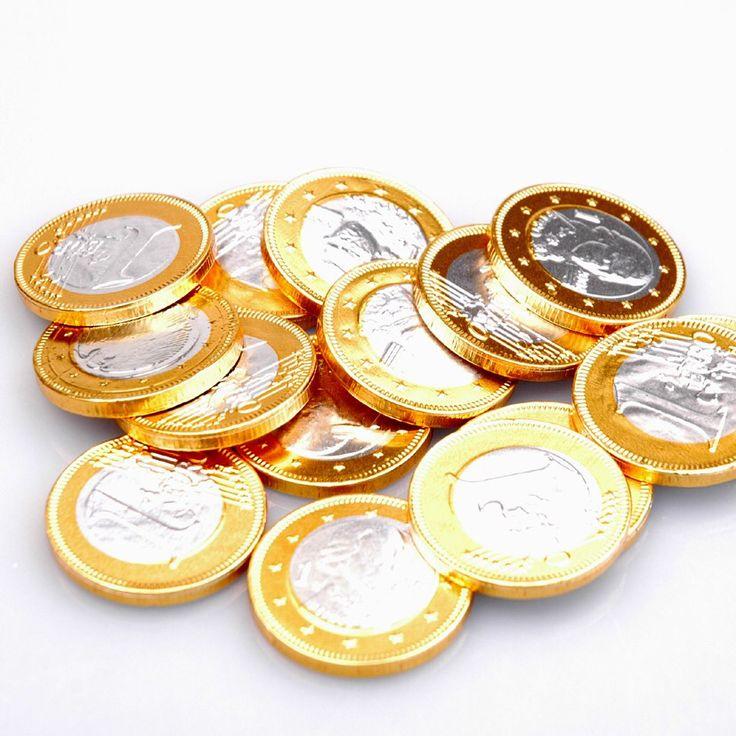 1,- euro Belgische chocolade munten. Per stuk 12 cent . Doe mij er dan maar 8 Budget: € 1,00 + een glimlach