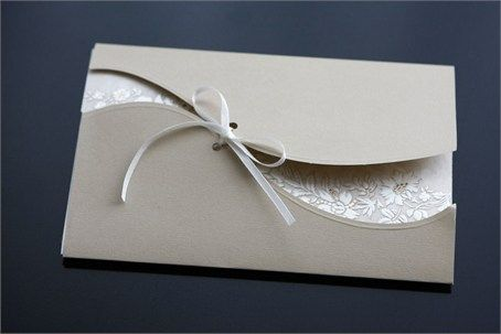 Elegant wedding invitation think id add a strip of silver and a flowery pattern…