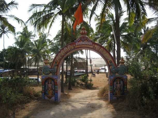 Mandrem Beach gate