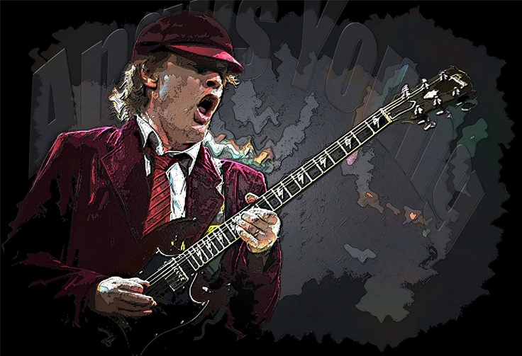 Ac Dc Art : Best images about angus young painting on pinterest