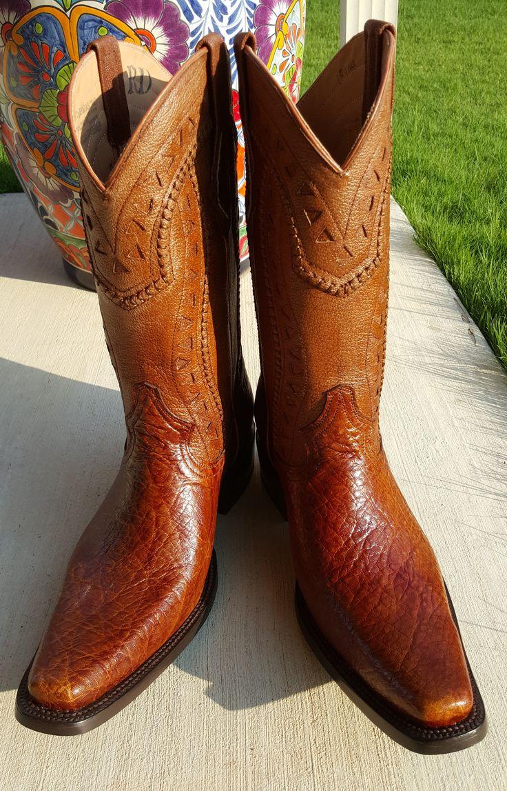 Western Cowboy Elephant Skin Exotic Boots Boot Heaven