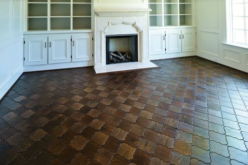 prefinished wood flooring in home with french and moorish influences