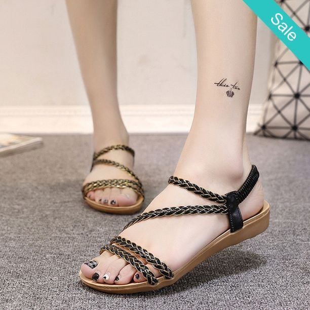 Strsppy Flat Sandals - Strsppy Flat SandalsHeel Height: Flat (≤1cm)Closure Type: Slip-On - On Sale for $19.00 (was $34.00)