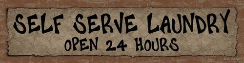 Self Serve Laundry Funny Wood Block Sign Primitive Country Rustic Home Decor | eBay