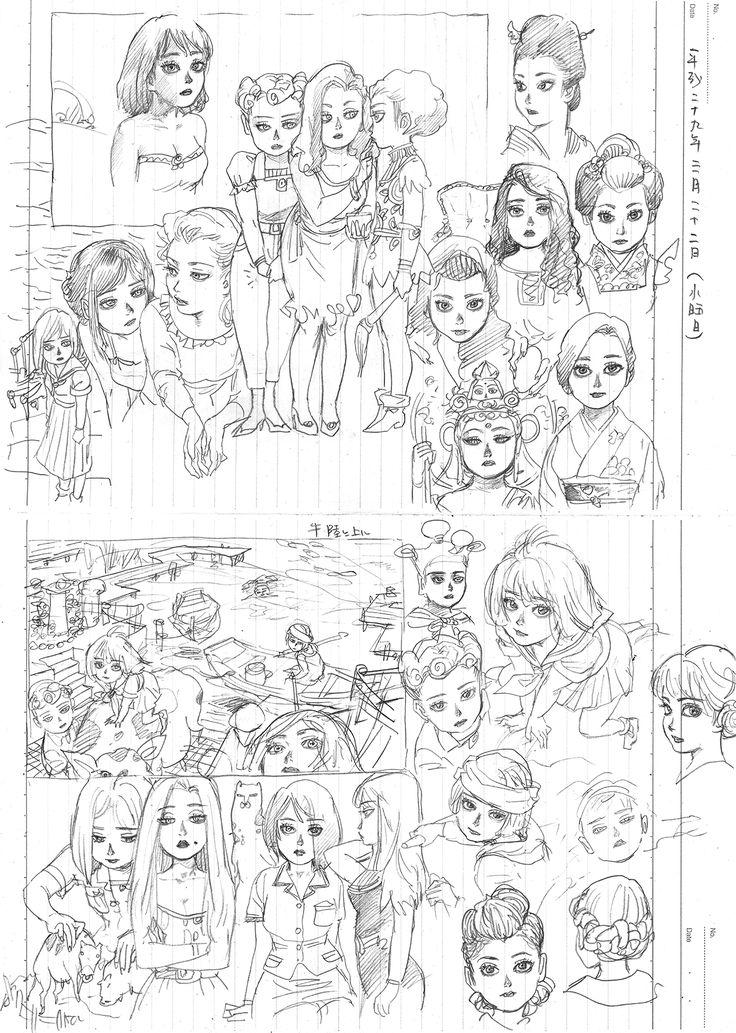 THE SEIJI pencil Diary20170322 girl art drawing illustration